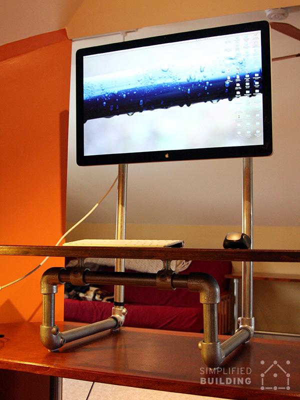 diy standing desk converter step by step plans. Black Bedroom Furniture Sets. Home Design Ideas