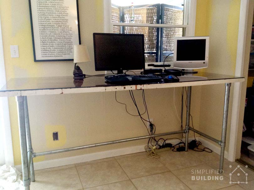 Pipe Standing Desk