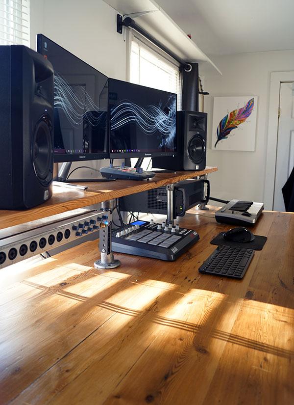 Reclaimed Wood DIY Studio Desk