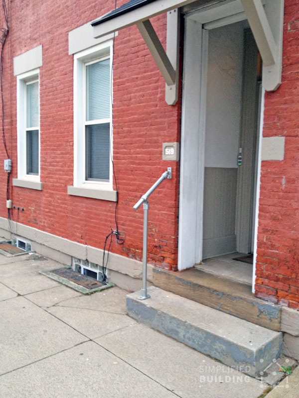 Simple Amp Sturdy Exterior Stair Railing