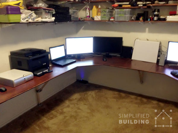 DIY Corner Desk Ideas Simplified Building - Build corner computer desk