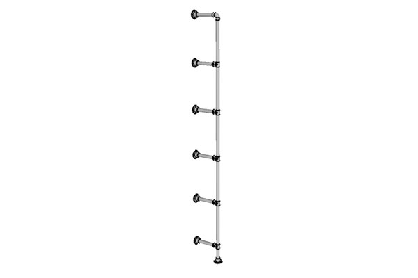Wall and Base Mounted Pipe Shelf