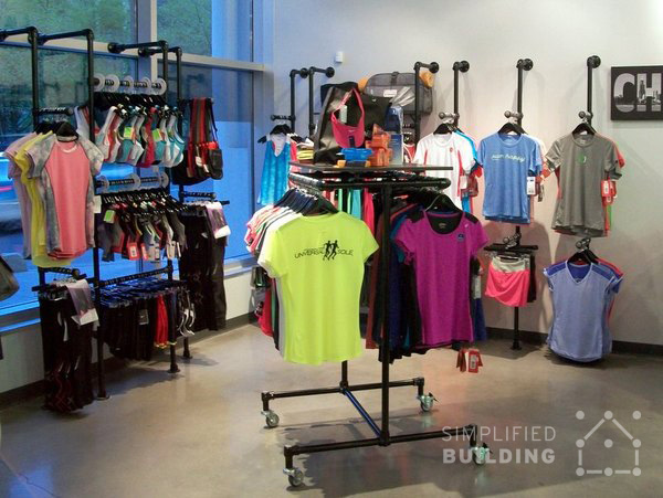 Wall Mounted Clothing Racks - Effective Layout