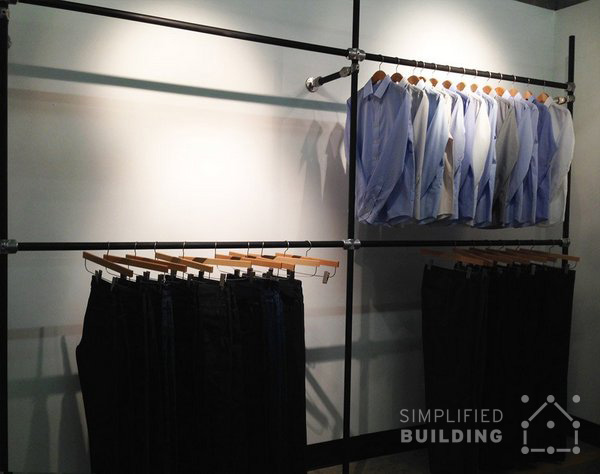 Wall Mounted Clothing Racks - Hang Bars