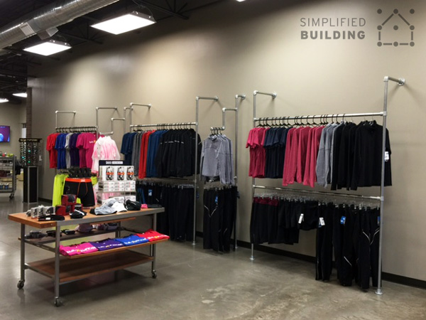 Wall Mounted Clothing Racks - Organized