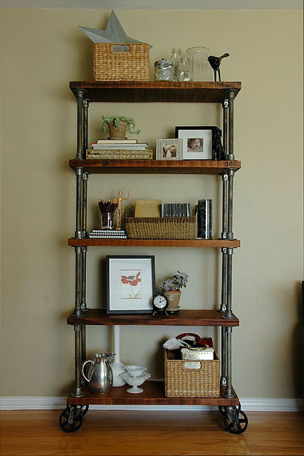 DIY Shelf Ideas Built with Industrial Pipe