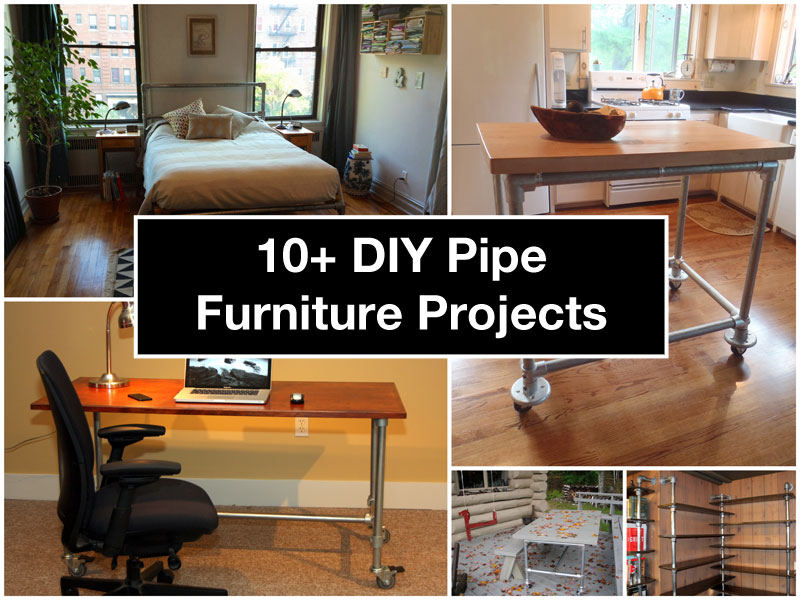 how to build black pipe furniture