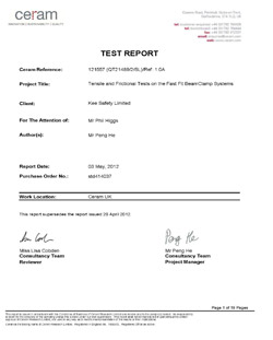 Fast-Fit I-Beam Test Document