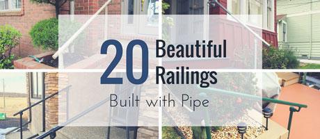20 Beautiful Railings Built with Pipe Image