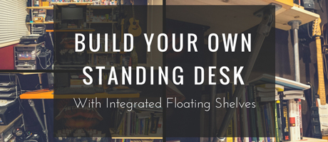 Build Your Own Standing Desk with Integrated Shelves Image