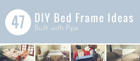 47 DIY Bed Frame Ideas Built with Pipe Image