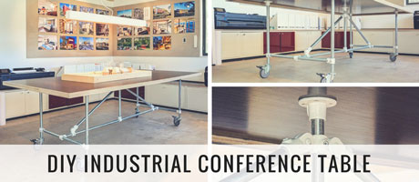 DIY Industrial Conference Table: How to Build Your Own Image
