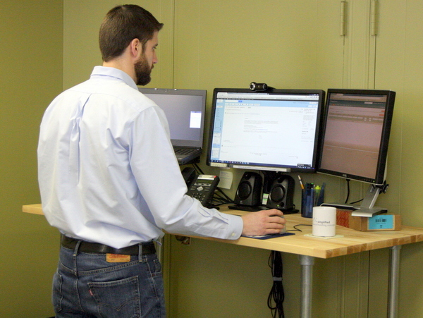 Working at Standing Desk Standing Desk