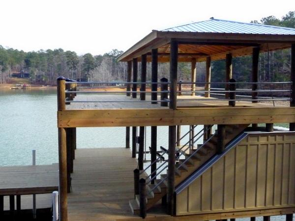 Pipe Railing Between Wooden Posts Simplified Building