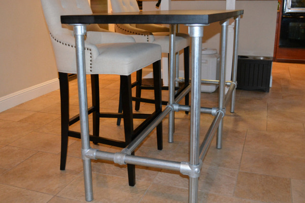 Diy Counter Height Table With Pipe Legs Simplified Building