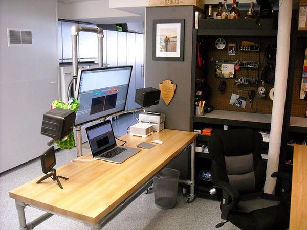 Pole Mounted Monitor Desk Desk Week Simplified Building