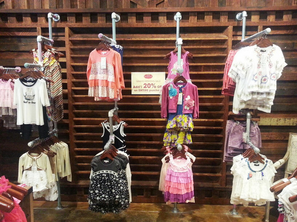 Display Rack for Children's Clothing