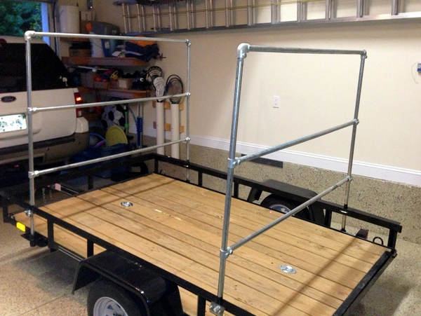 DIY Kayak Trailer Rack