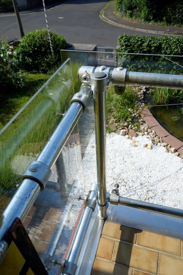 Glass Panel Balcony Railing