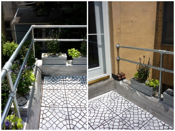 Modern Metal Deck Railing Collage