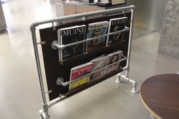 Pipe Magazine Rack