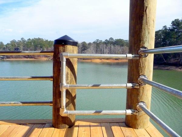 Wooden Post Railing - Gate