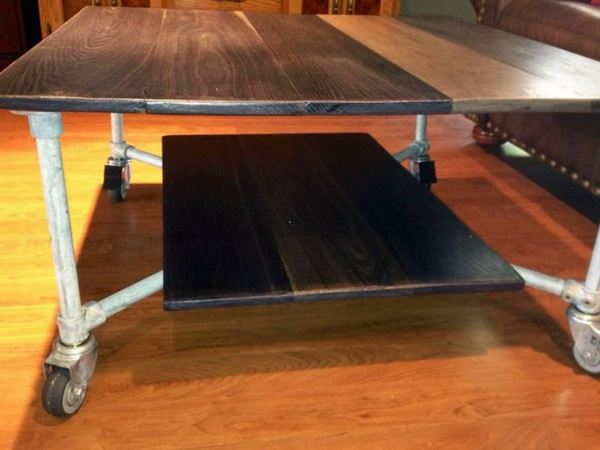 Rolling Coffee Table - Side View