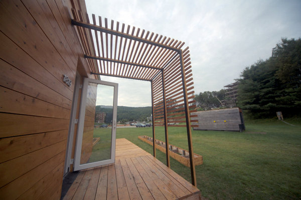 Porch Shade Supports for the Solar Decathlon