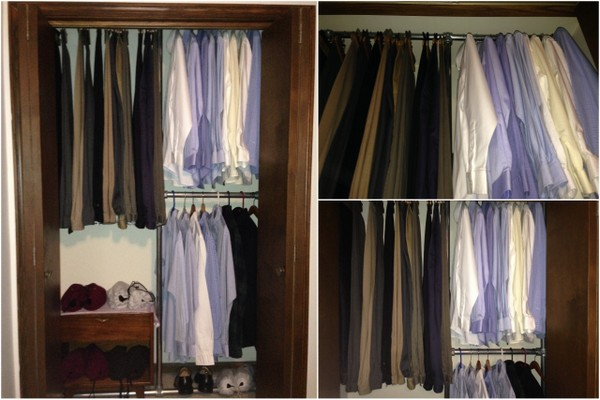 Design a space saving closet using pipe and fittings - Space saving closet ideas ...