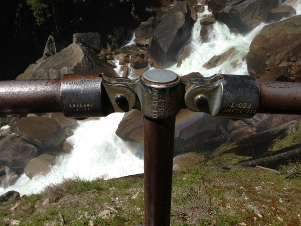 Outdoor Railing Close Up at Vernal Falls