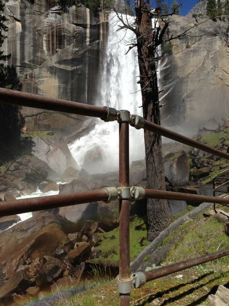 Outdoor Railing at Vernal Falls
