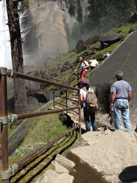 Outdoor Railing System at Vernal Falls