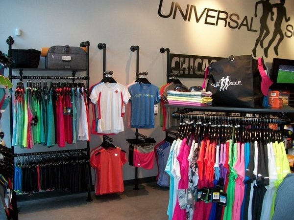 Wall Mounted Retail Clothing Racks
