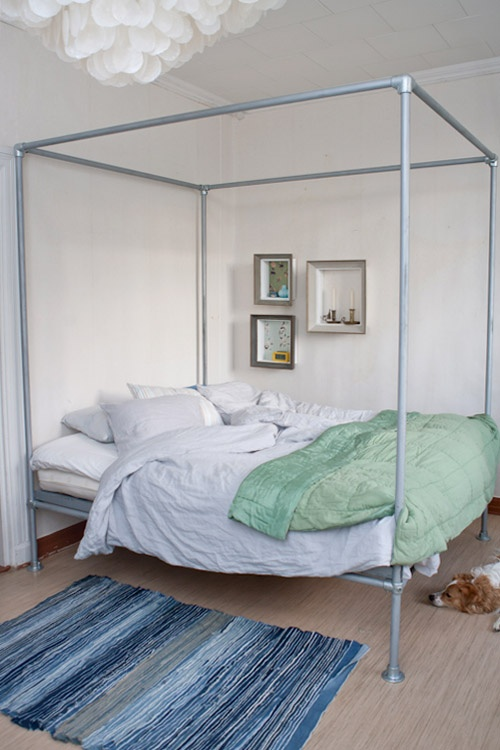 Airy Industrial Chic Bedroom