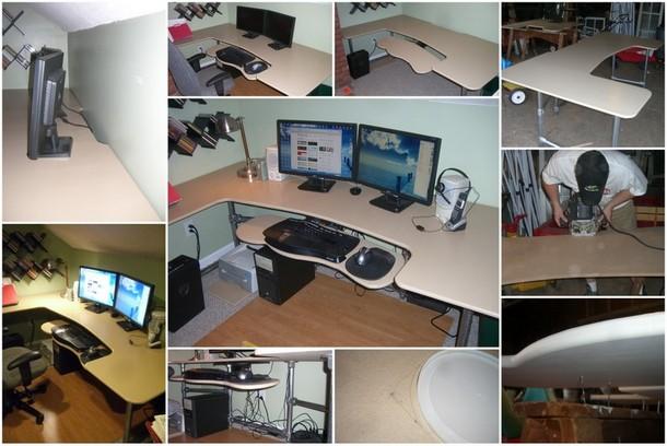 DIY Custom Ergonomic Computer Desk