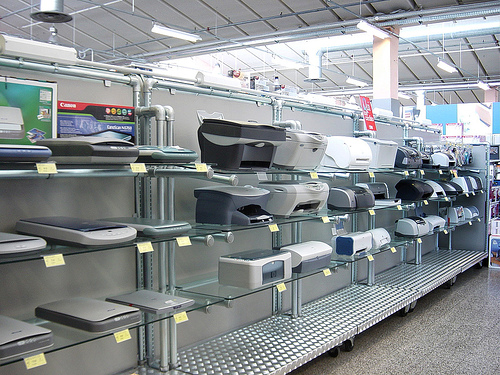 Electronics Retail Racks