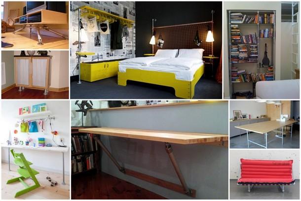 利用钢管和管接头制作的家具