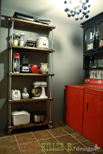 Industrial Kitchen Shelf
