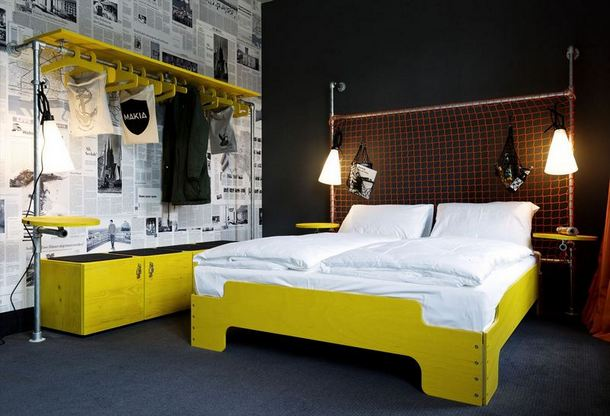 Industrial Pipe Furniture Featured In German Hostel
