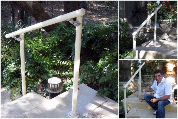 Easy to install outdoor stair railing simplified building outdoor handrail for the front steps solutioingenieria Images