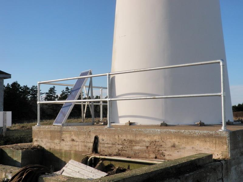 Railing on Lighthouse Island