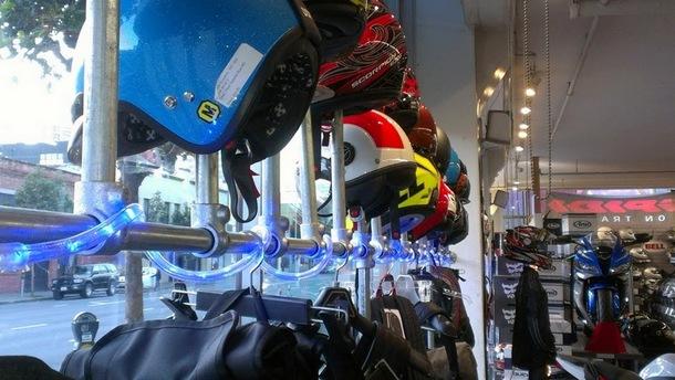 Motocycle Helmet Retail Display