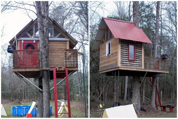 Side View of DIY Tree House