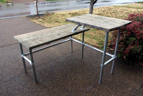 Split Level Sit Stand Desk
