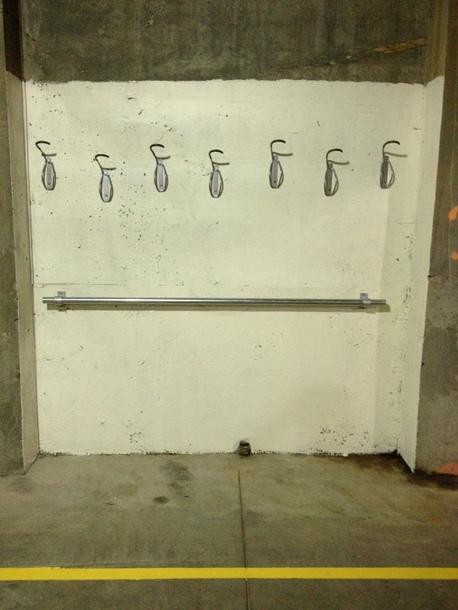 Wall Mounted Bike Lockup Station