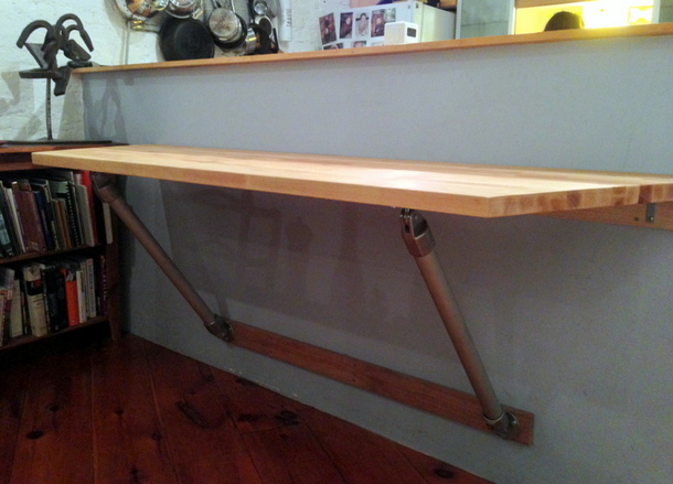 Butchers Block Wall Mounted Table
