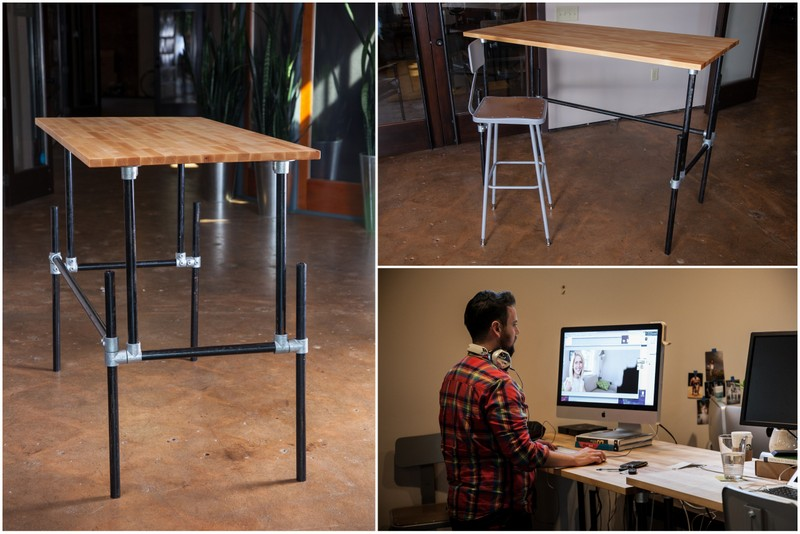 Building an Adjustable Height Standing Desk [Video]