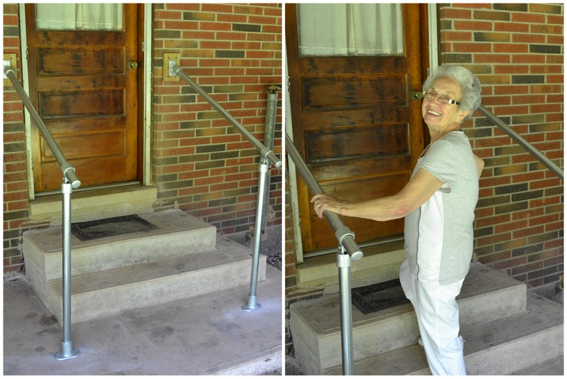 simple handrail for back door accessibility