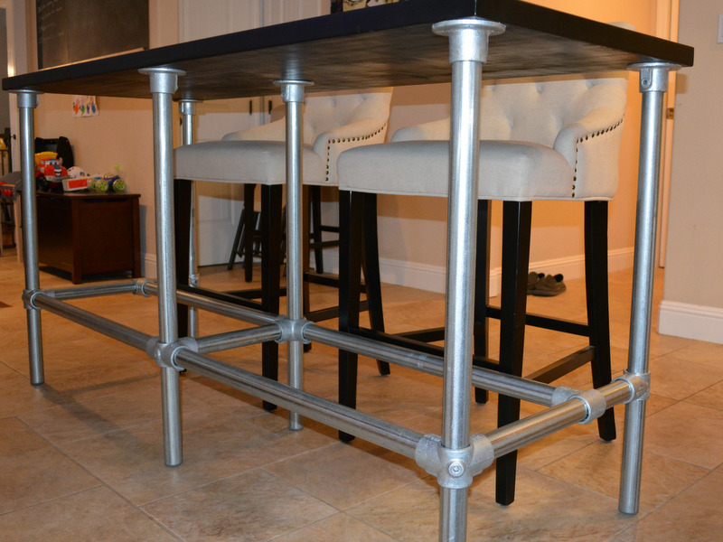 Counter Height Zinc Table : Here is a list of fittings that Steven used to build this project.