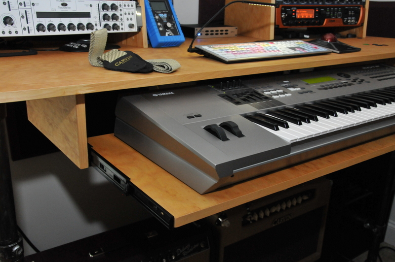 Rolling Recording Desk with Microphone Stand [Desk Week]